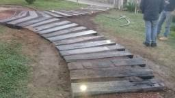 Lajotas para caminho de jardim, degraus, escadas de dormentes