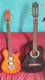 Violão e guitarra bem consevados