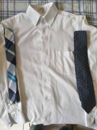 Camisas sociais tamanho P + gravatas - LEIA A DESCRIÇÃO