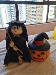 Título do anúncio: Kit bruxinha e abóbora dia das bruxas!!