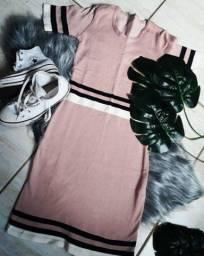 Vestido de modal em duas cores 59,90