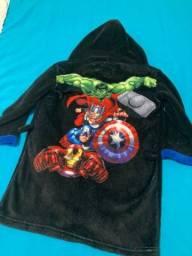 Roupão tamanho 4 anos da Marvel 35,00