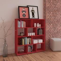 Estante para livros modelol Book cor vermelha