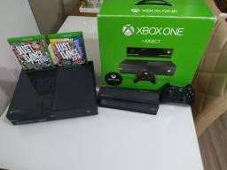 Xbox one + Kinect + joystick + 2 jogos