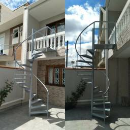 Escadas caracol, escadas retas, portas, portões, Grades, Corrimão, Pantográficas