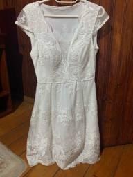 Vestido curto noivado