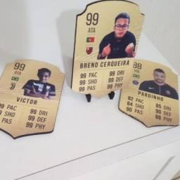 Placa Fifa Card em MDF