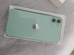 iPhone 11 128 Gb verde novo aceito cartao