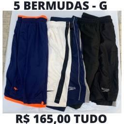 5 - Bermudas Esportivas Tamanho G