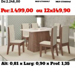 Mesa Luxo com cadeiras almofadadas - Direto da Fabrica
