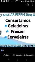 Carga de gas geladeira freezer promocao