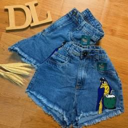 Short jeans cintura alta!