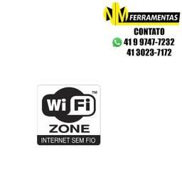 Placa Advertência Wifi Zone Unidade