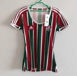 Camisa Fluminense feminina tricolor 2015