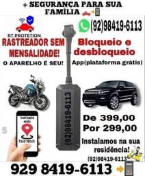 Título do anúncio: Rastreador e bloqueador sem mensalidade carro moto caminhoes ###