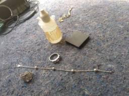 Pulseira e 2 anel de prata 950 antigo