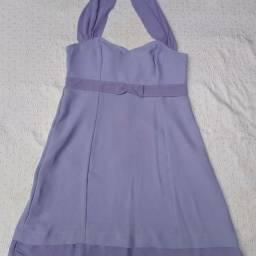 Vestido de festa curto lilás