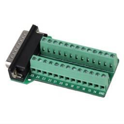 Adaptador Borne Db25 Macho Conector Terminal Depuração Breakout Board