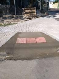 Calçada em paver, material e mão de obra