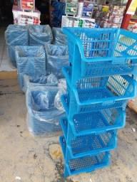 Cesto Expositor multiuso R$ 90,00 Avista (torre com 05 cestos )