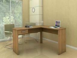 Mesa para Computador/Escrivaninha Fênix 1 Gaveta - Politorno 1181 CASTANHO