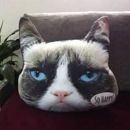 Almofada Gato Happy, Grumpy Cat, Decoração, Presente, Design