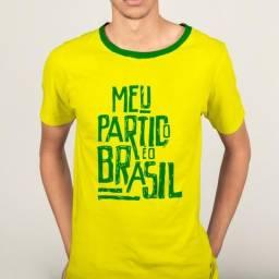 Camiseta Bolsonaro Meu partido é o Brasil amarela