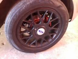 Rodas 15 multi furos pneus 195x55