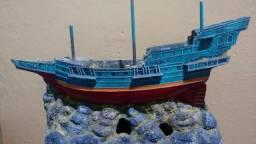 Navio Galeão Em Resina