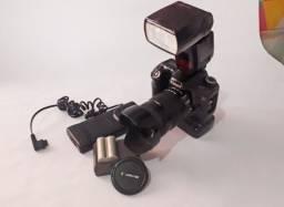 Kit Canon Câmera 40D Lente 18/135 Flash 580 EX II e Acessórios Pronto p Trabalhar