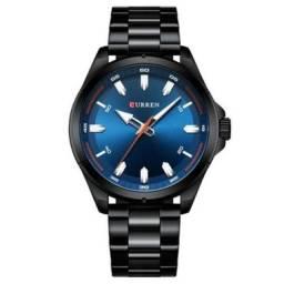 Relógio Masculino Curren Analógico 8320 - Preto e Azul