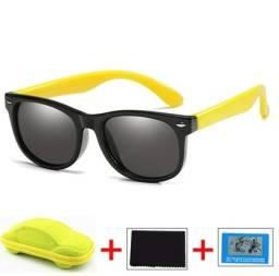 Óculos de sol infantil lentes Polaroid e armação super flexível!