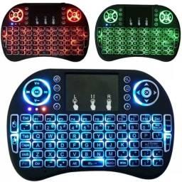 Mini teclado led sem fio wereless touch pad universal Pc