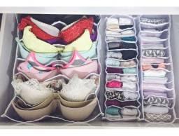 Kit com organizador de calcinhas e sutiã
