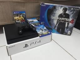 Vendo PS4 Slim + 4 Jogos