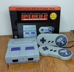 Super mini nintendo 821 jogos clássicos NES