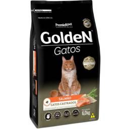 Ração Golden Gatos Castrados Sabor Salmão 9 KG