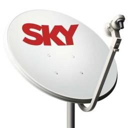 Vendo antena sky com receptor de sinal novo nunca usado