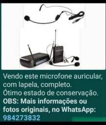 Microfone auricular com lapela