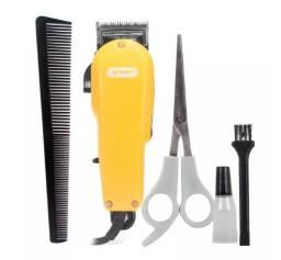 Máquina Cortar Cabelo Barba Profissional Knup 110v