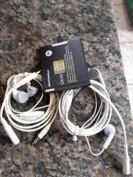 Baterias e fones de ouvido