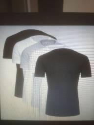 PROMOÇÃO KIT COMPLETO Camisas básicas masculino tam. G