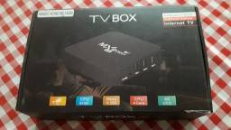 Tv box semi novo.