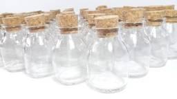 Título do anúncio: Frasco de Vidro Boca Larga 50ml Com Tampa De Rolha caixa com 100 unidades