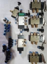 Kit Pneumático Com Vários Componentes - Válvulas