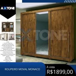 Título do anúncio: Roupeiro moval monacos com marroms 58