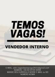 VAGA DE VENDEDOR INTERNO