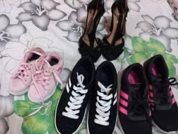 Título do anúncio: Sapatos FEMININOS seminovos