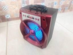 Título do anúncio: Caixa de som Grasep D-bh2013 Vermelha - Bluetooth Usb