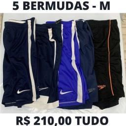 5 - Bermudas Esportivas Tamanho M